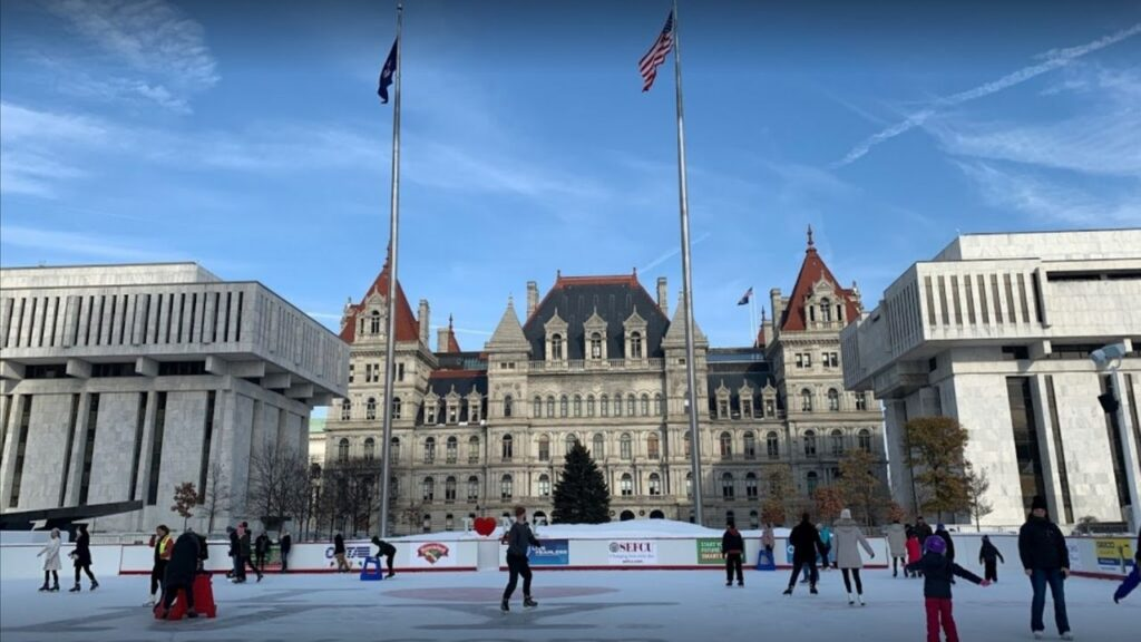 Empire State Plaza Ice Rink - Free things to do in Albany - exploreitdaily.com